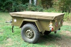 Anhängerplane aus Canvas für einen M416 Anhänger der US Army