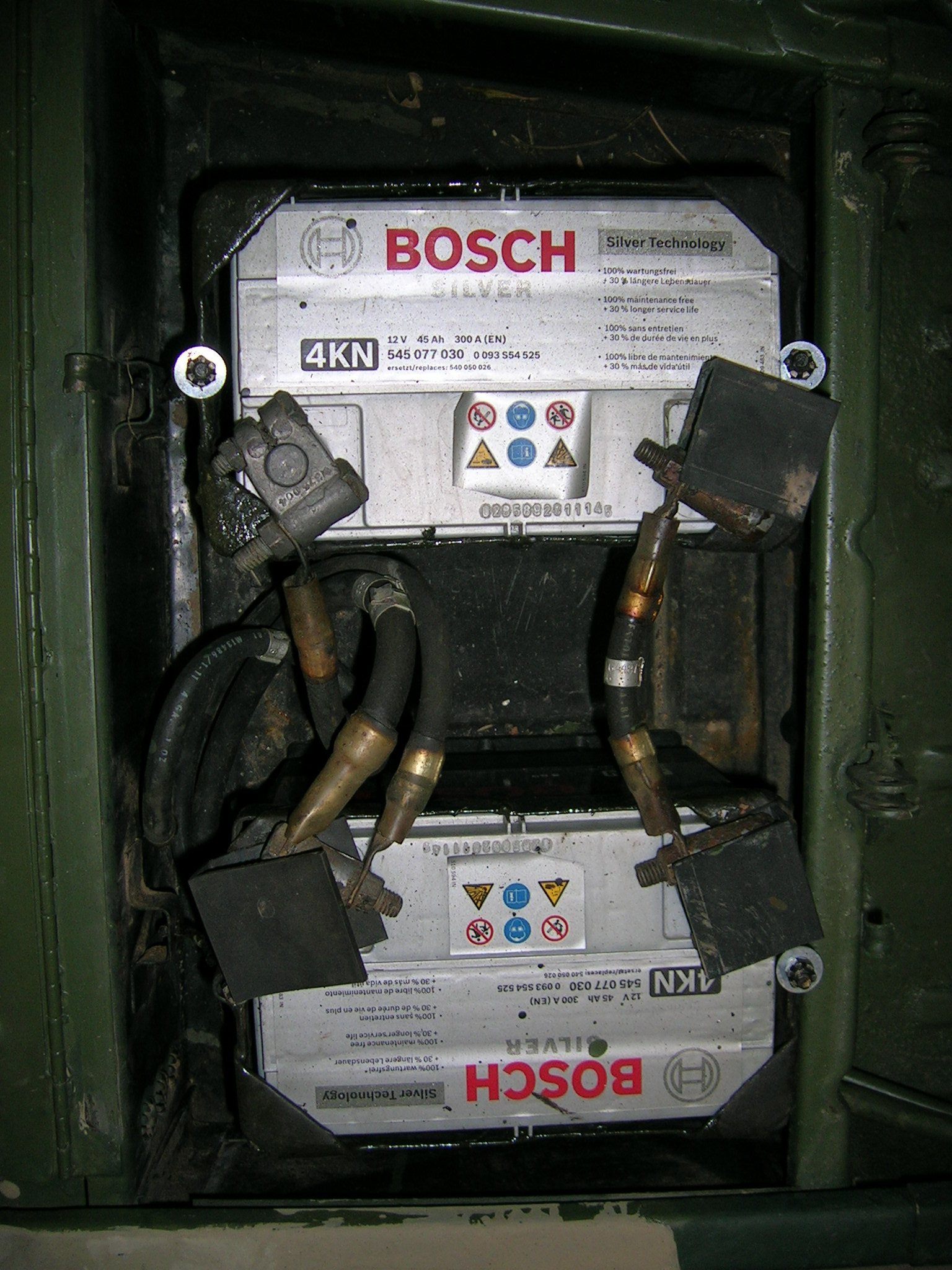 Batteriekasten vor Restaurierung
