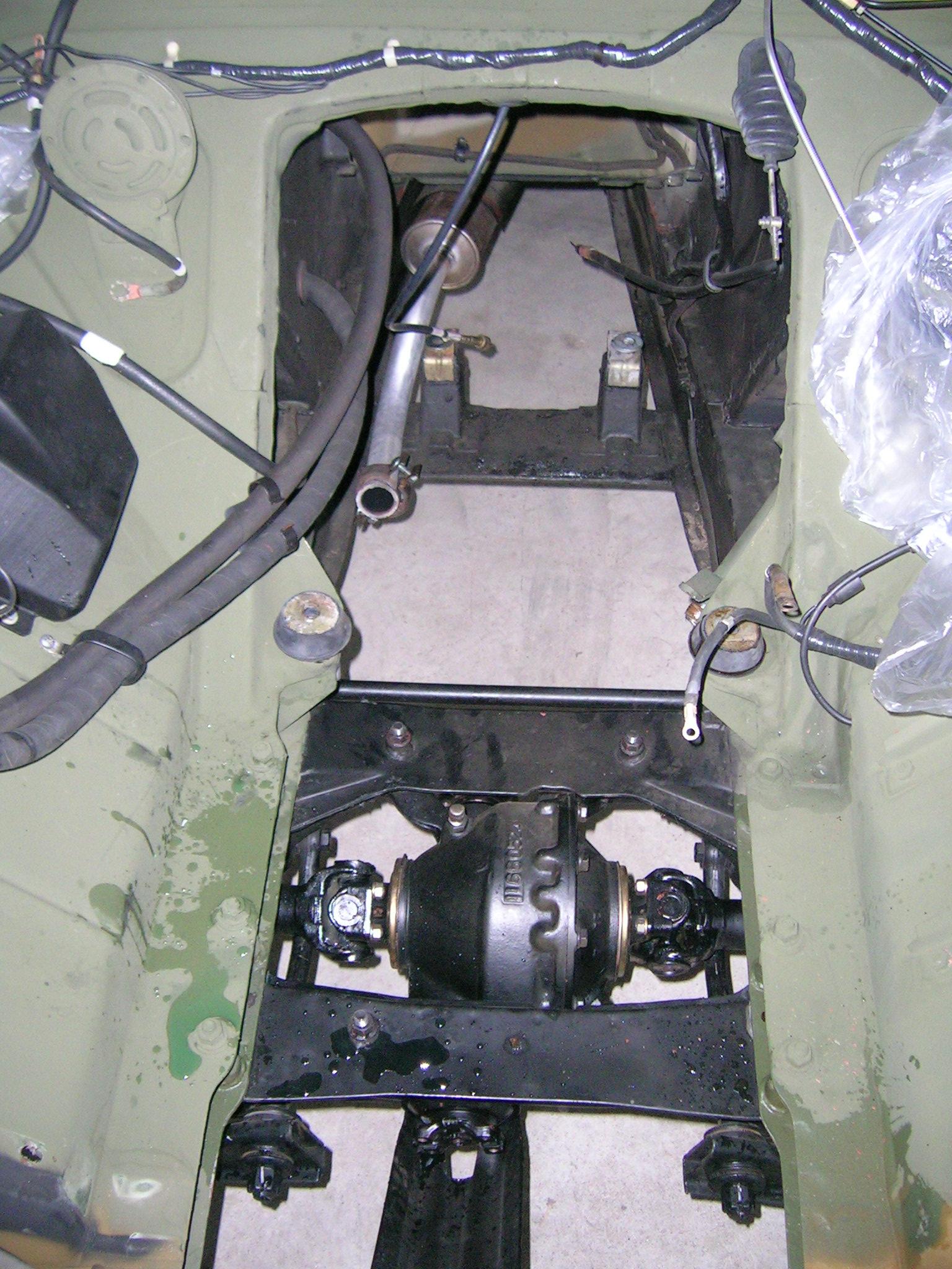 Der Motor musste aus dem Mutt raus