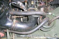 So sah der Motorraum des M151 A2 vorher aus