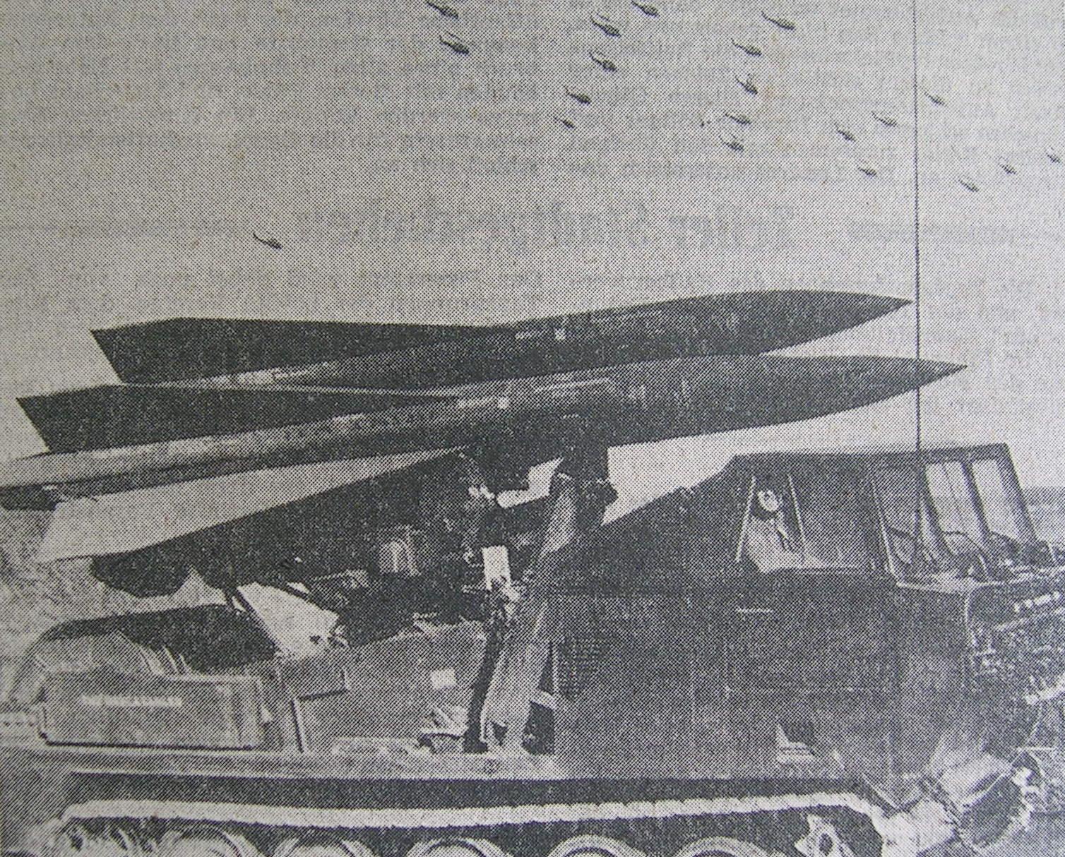 Flugabwehrraketenpanzer in Stellung